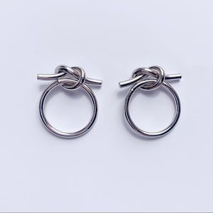 Jewelry - SILVER HOOP STUD EARRINGS
